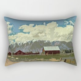 Ranch in the Mountains Rectangular Pillow
