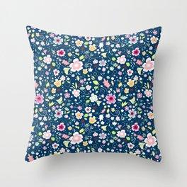Flower Abundance Throw Pillow