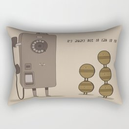 Long Talking Tokens Rectangular Pillow