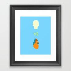 Head vs. Heart Framed Art Print