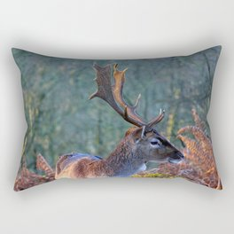 Stag Leader of the Herd 3 Rectangular Pillow