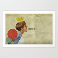 E.A.T | Collage Art Print