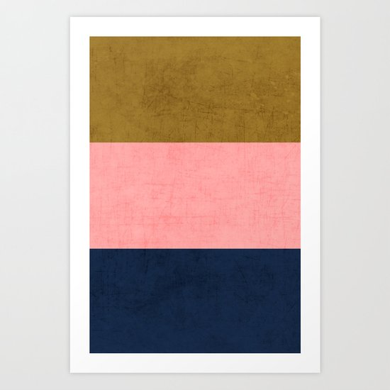 three stripes - classic Art Print