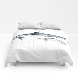 Striped dolphin Comforters
