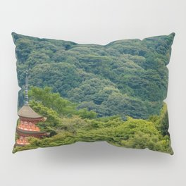 Japanese forest temple Pillow Sham