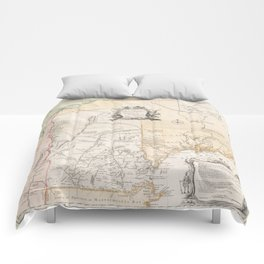 Vintage New Hampshire Exploration Map (1761) Comforters