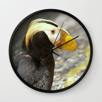 puffin Wall Clocks featuring Puffin... by Nature In Art...