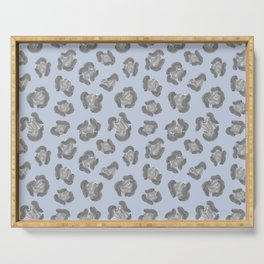 Snow Leopard Print Pattern Alt Serving Tray