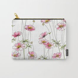 Pink Cosmos Flowers Carry-All Pouch
