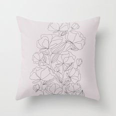 flowers, with love Throw Pillow