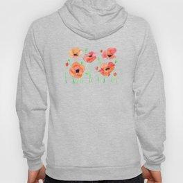 Poppies Flowers Hoody