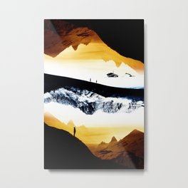 Hiking for Blue Isolation Metal Print