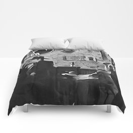 The Hunt - Black and White Comforters