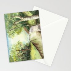 Trees by the canal Stationery Cards