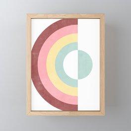 Circular Rainbow Framed Mini Art Print