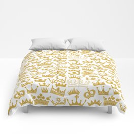 seamless pattern with crown Comforters