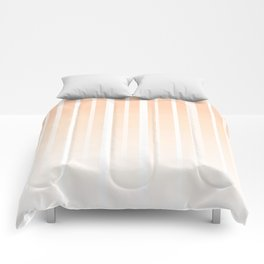 Dissolving Stripes Pattern in Soft Light Peach Comforters