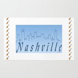 Nashville Skyline Blue Rug