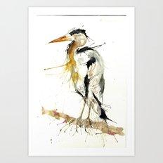 Mr Heron Art Print