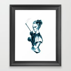 Bubble Goth Framed Art Print