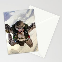 Parachuting falling Stationery Cards
