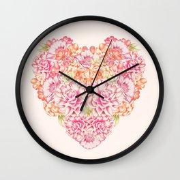 COEUR & FLEUR Wall Clock