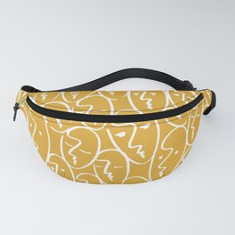 faces / mustard Fanny Pack