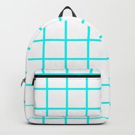 GRID DESIGN (CYAN-WHITE) Backpack