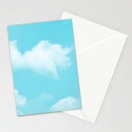 Aqua Blue Clouds Stationery Cards