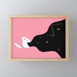 Space Coffee Framed Mini Art Print