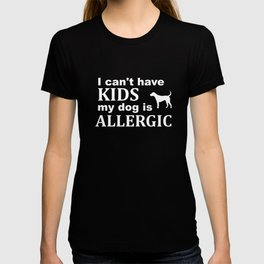 Childfree Funny Kids Dog Allergy T-shirt