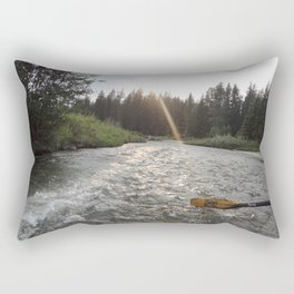 Rafting Down the Snake River Rectangular Pillow