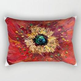 Red Poppy Rectangular Pillow