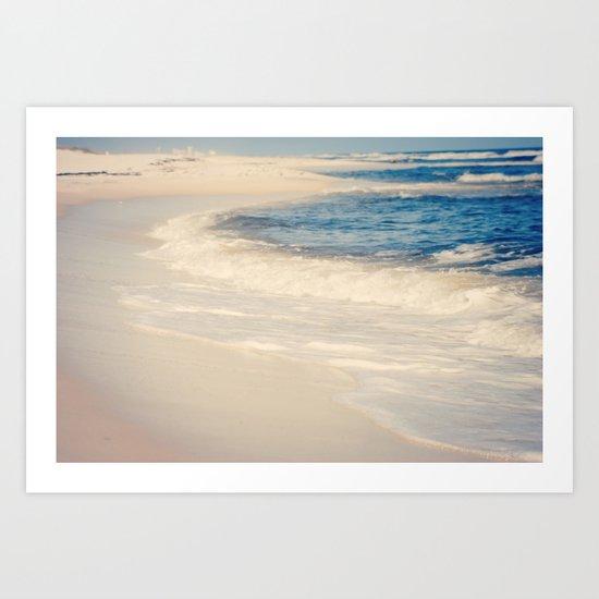 Sand and Waves Art Print