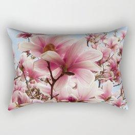 magnolia and blue sky Rectangular Pillow