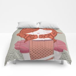 Fashion Doll Illustration 3 Comforters