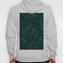 Abstract modern emerald green tropical palm tree Hoody