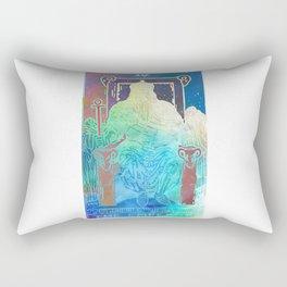 The Emperor - A Soft Watercolor Tarot Print Rectangular Pillow