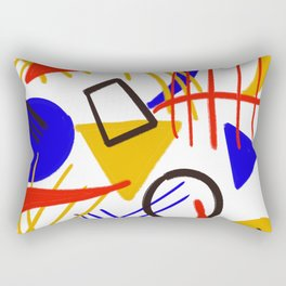 The shape game abstract Rectangular Pillow