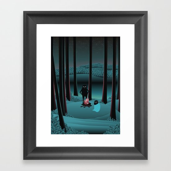 Long Talks Short Nights Framed Art Print
