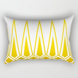 Mid Century Muse: Norms in Mustard Rectangular Pillow