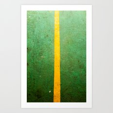 Yellow light Between Art Print