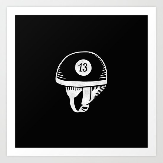 Old helmet - 13 Art Print