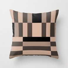 Black and Nude abstract Throw Pillow
