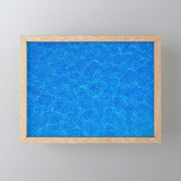 COOL BLUE WATER WITH SUNLIGHT RIPPLES Framed Mini Art Print