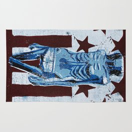 Love In America (Blue) Rug