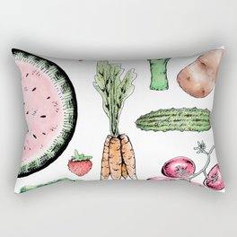 Vegetable Medley Rectangular Pillow