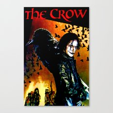 The Crow - Colored Sketch Canvas Print
