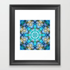 Into the Blue Kaleidoscope Framed Art Print