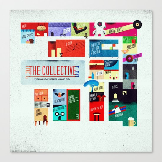The Collective Map Canvas Print